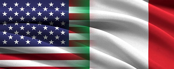 USA Italy Flag