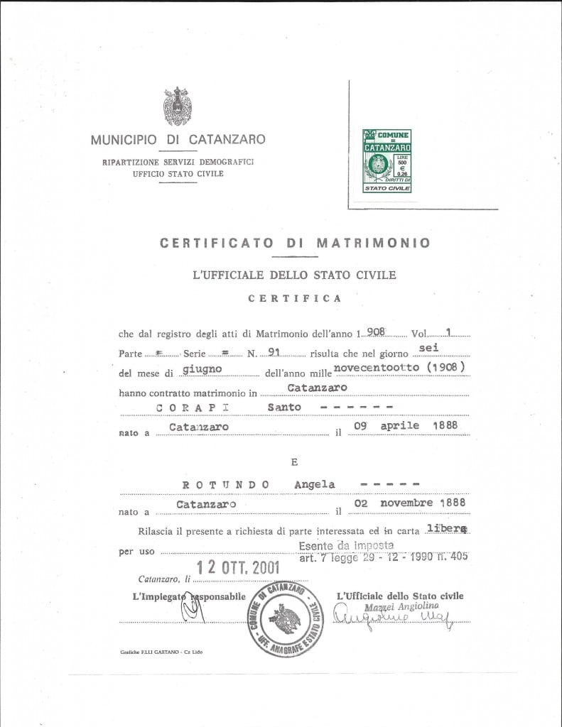 Italian Marriage Record_IRP Blog