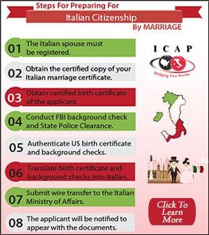 how to become an italian citizen through marriage